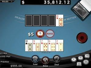 RTG Caribbean Stud Poker Screenshot