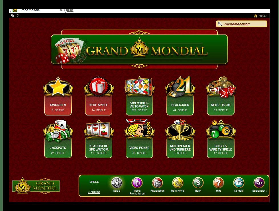 официальный сайт казино гранд мондиаль играть бесплатно