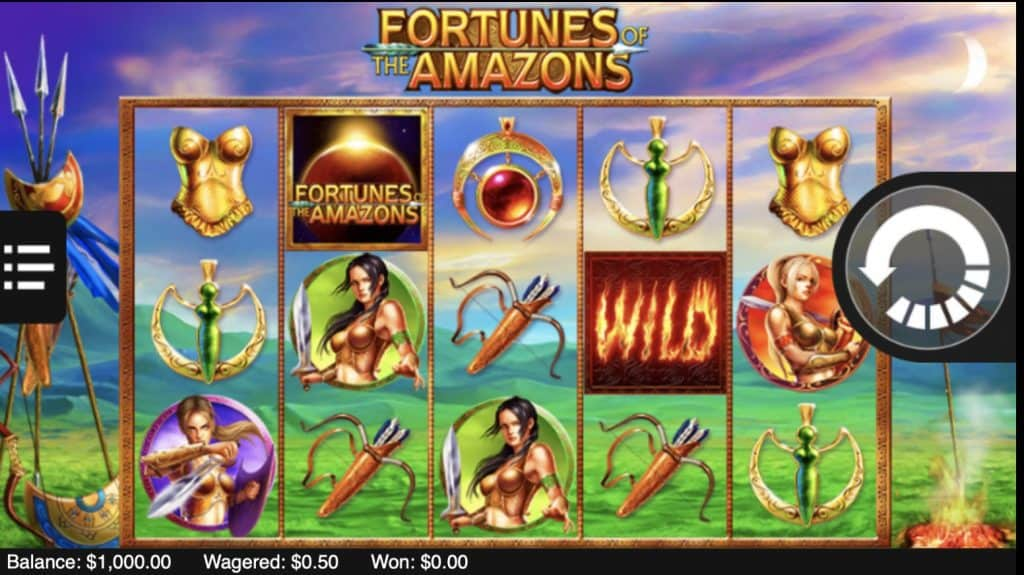 Fortunes of the Amazons Slot Screenshot