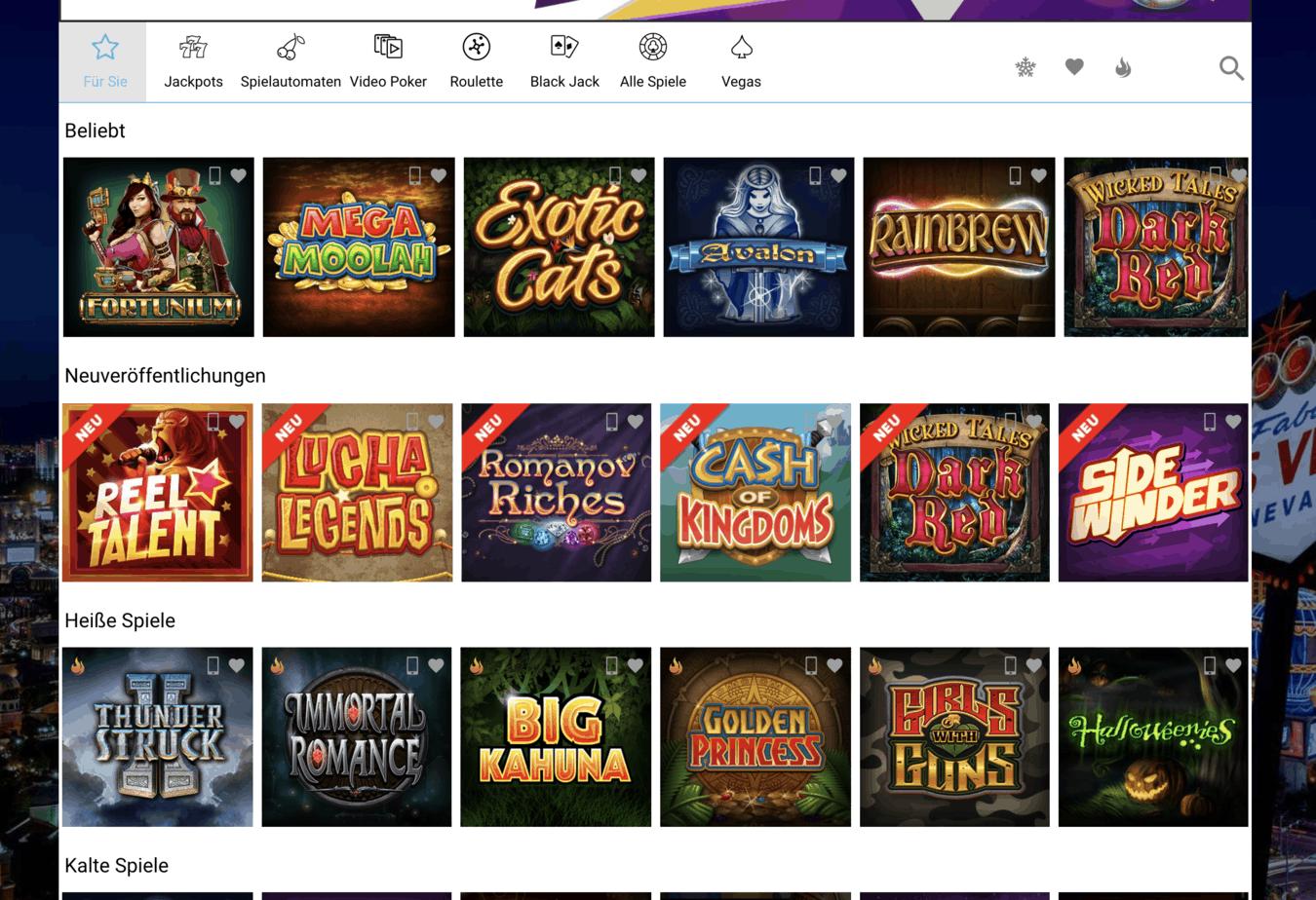 All Slots Casino Game Lobby Screenshot