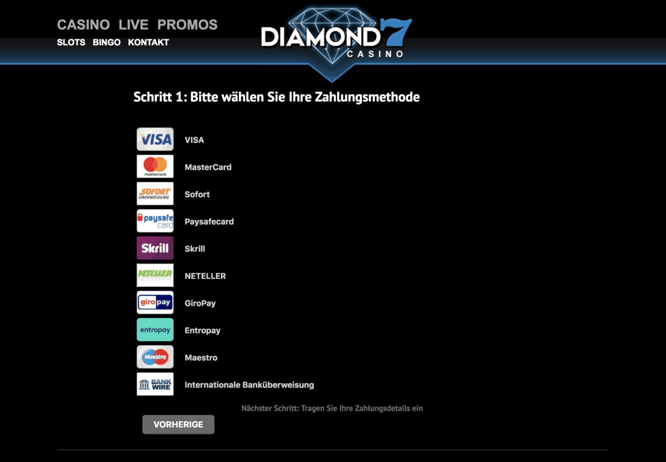 Diamond 7 Casino Kassierer Screenshot