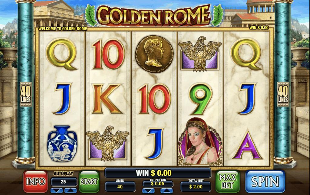 Golden Rome Slot Screenshot