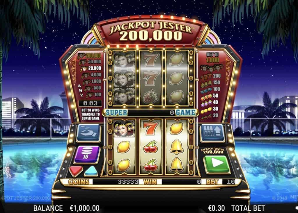 Jackpot Jester 200 000 Screenshot