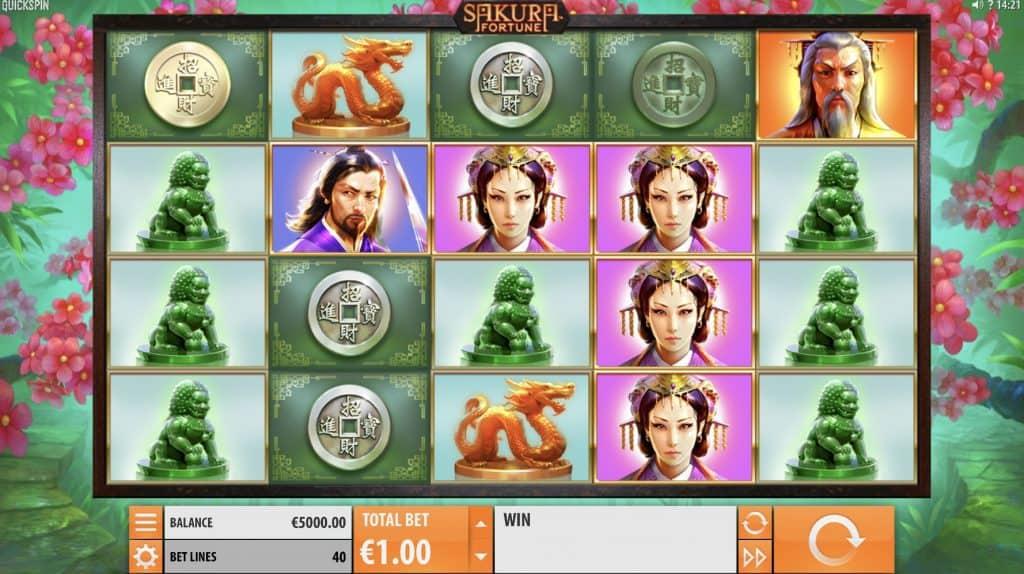 Sakura Fortune Slot Screenshot