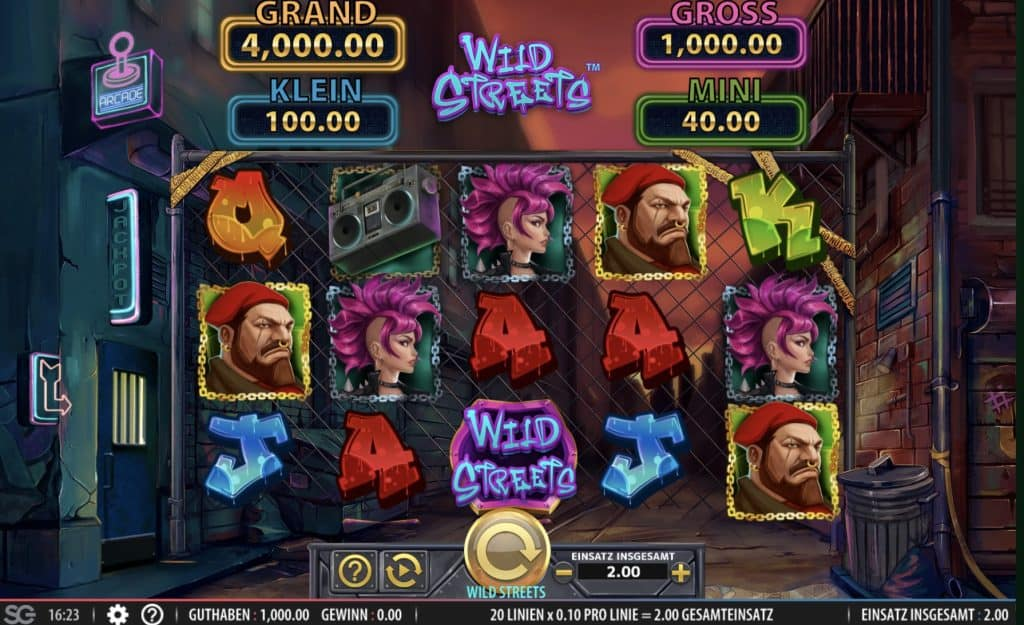 Wild Streets Slot Screenshot