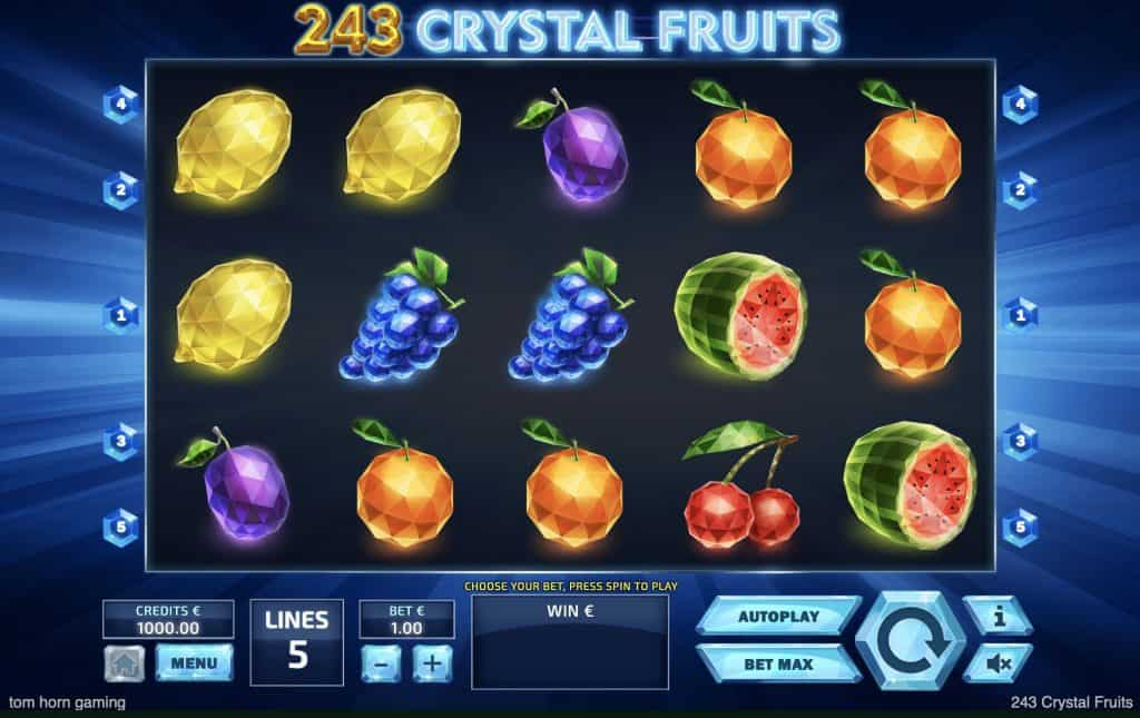 243 Crystal Fruits Slot Screenshot