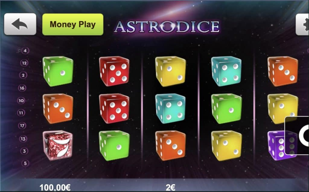 Astrodice Slot Screenshot