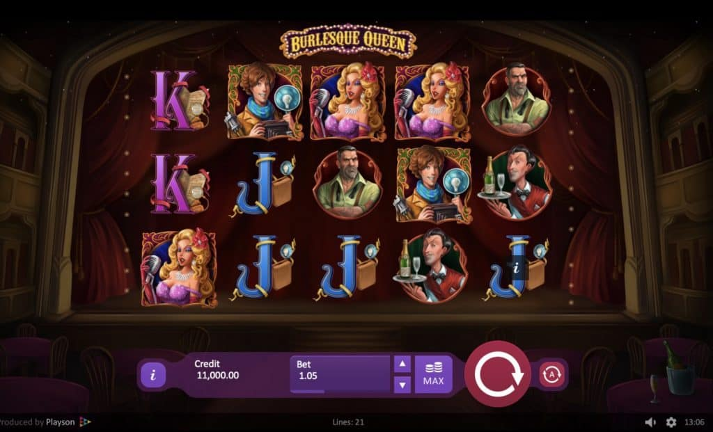 Burlesque Queen Slot Screenshot