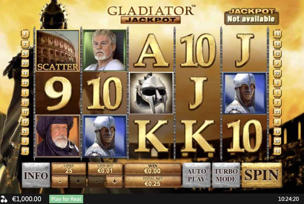 Gladiator Jackpot Slot Screenshot