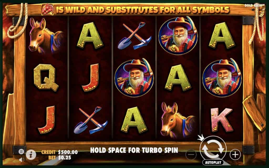 Gold Rush Pragmatic Play Slot Screenshot