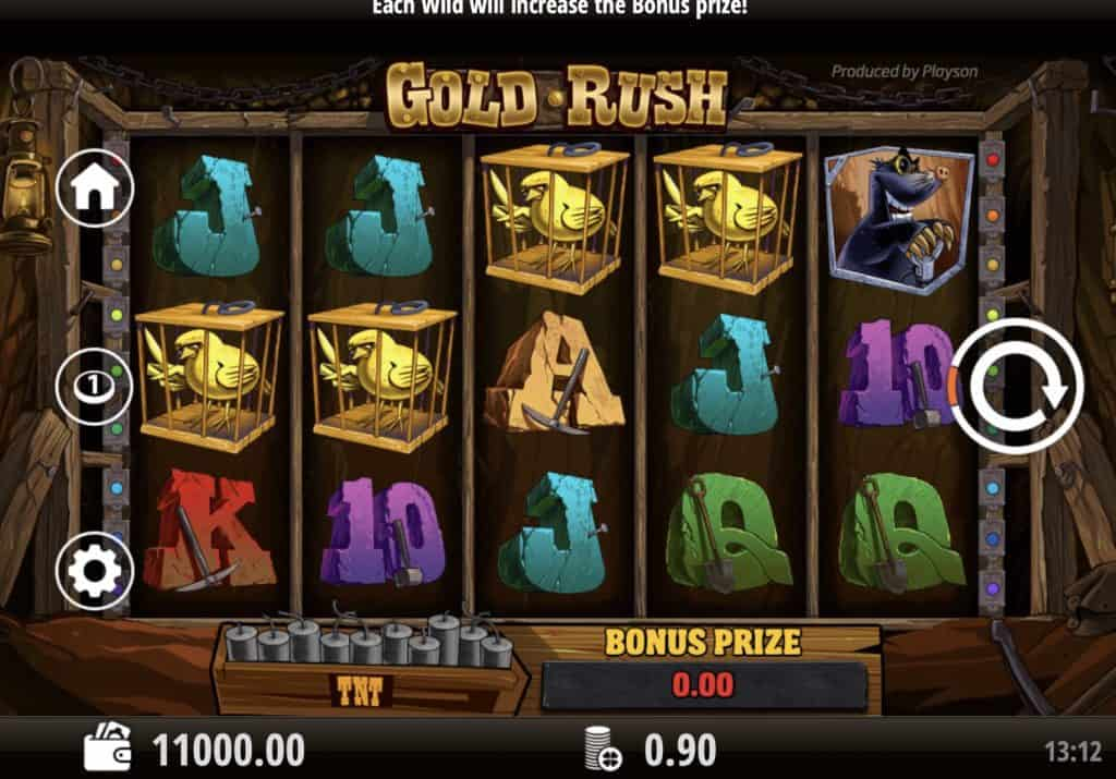Gold Rush Slot Screenshot