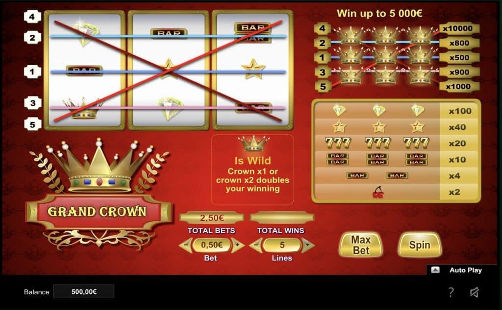 Grand Crown Slot Screenshot