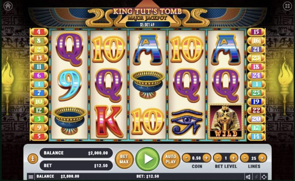 King Tut's Tomb Slot Screenshot