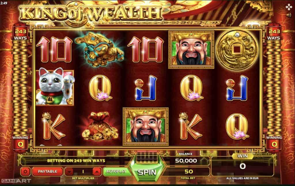 King of Wealth Slot Screenshot