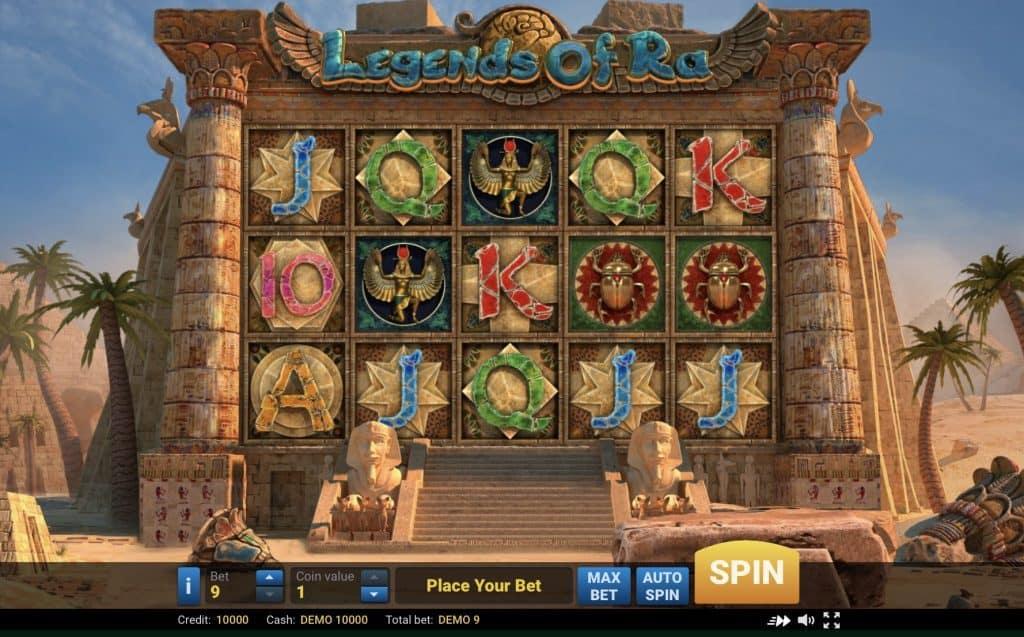 Legends of Ra Slot Screenshot
