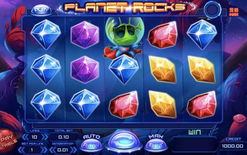 Planet Rocks Slot Screenshot