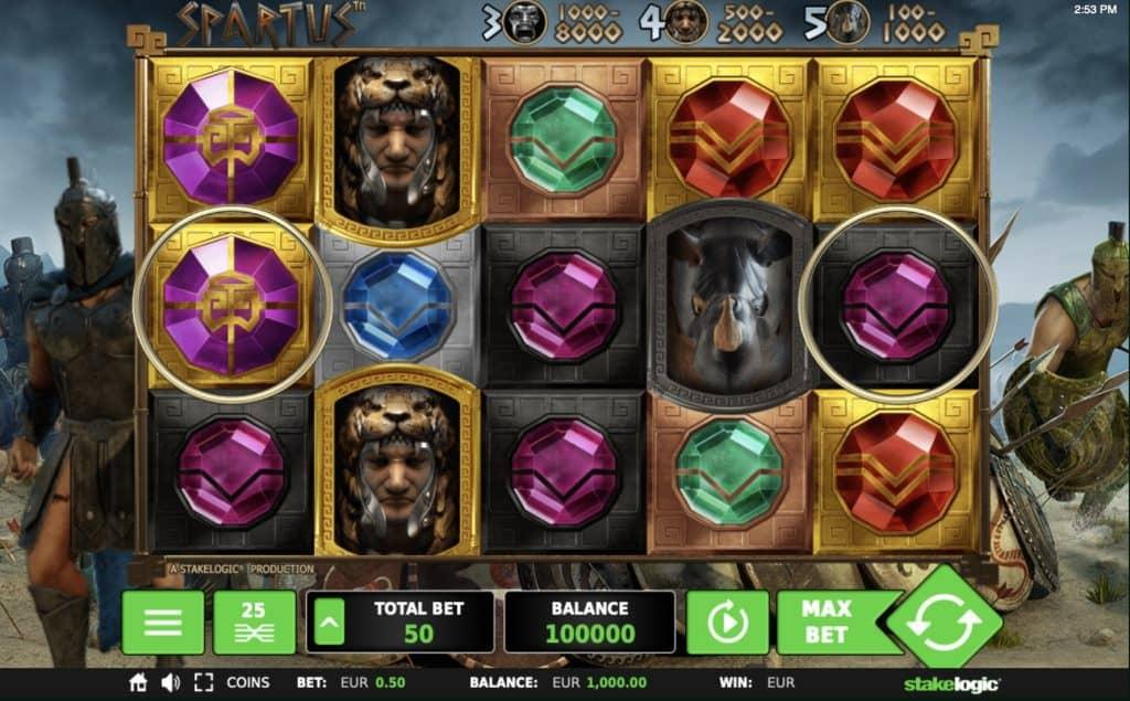 Spartus Slot Screenshot