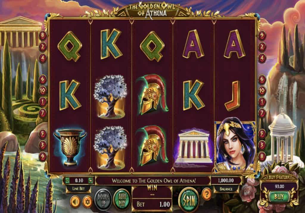 The Golden Owl Of Athena Slot Screenshot
