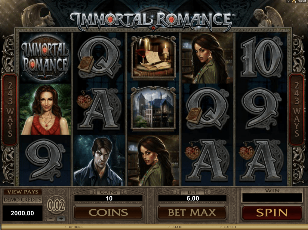 Immortal Romance Slot Screenshot