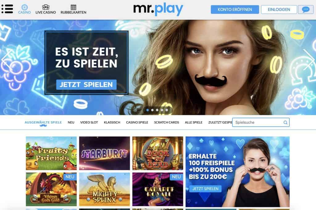 Mr Play Homepage Screenshot